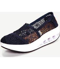 donne scarpe con plateau con suola in pizzo respirabile scarpe con suola oscillate