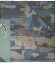 undercover camouflage print scarf - green