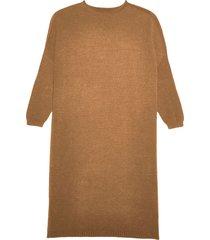 apparis taylor fine knit dress - brown