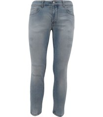 5-pocket light jeans with abrasions