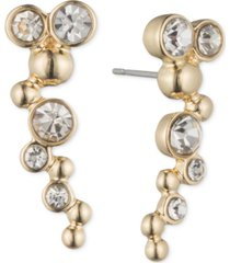 lonna & lilly gold-tone and crystal bubble ear cuff