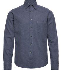 flannel button-under collar shirt skjorta casual blå eton