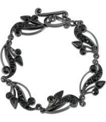2028 vine toggle bracelet with swarovski crystals