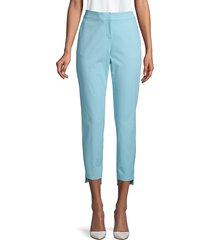 lafayette 148 new york women's manhattan slim-fit step hem pants - raffia - size 8