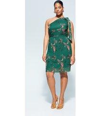 asymmetrische jurk met strik
