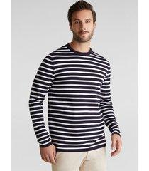 sweater hombre rayado azul marino esprit