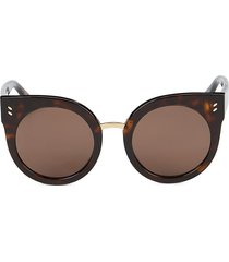 stella mccartney women's 51mm cat eye core sunglasses - brown