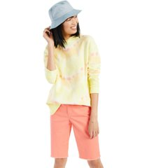 style & co petite printed hooded sweatshirt, created for macy's