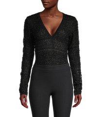 v-neck wool-blend bodysuit