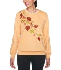 alfred dunner petite embroidered embellished sweatshirt