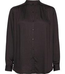 nova silky shirt blouse lange mouwen bruin moshi moshi mind
