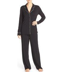women's nordstrom lingerie moonlight pajamas, size xx-large - black
