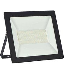 refletor led taschibra tr100, preto, 100 watts, 6500k - preto