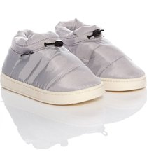 slippers padded boots thm mujer gris