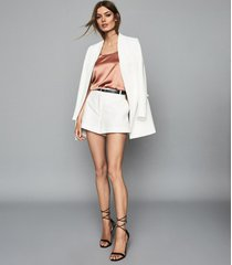 reiss remey - silk front vest in mink, womens, size xl
