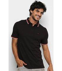 camisa polo calvin piquet algodão supima masculina