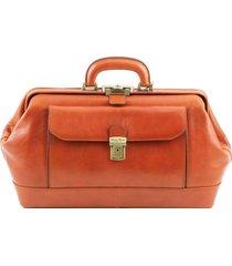 tuscany leather tl141298 bernini - esclusiva borsa medico in pelle miele