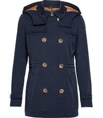 jackets outdoor woven trenchcoat lange jas blauw esprit casual