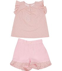 mariella ferrari printed shorts set