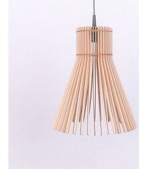 lampa drewno sufitowa wisząca abażur plafon led