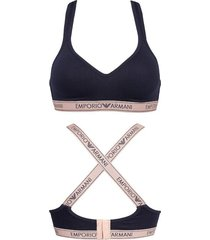 emporio armani padded bralette - donkerblauw
