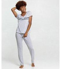 pijama estampa bolinhas manga curta marisa feminino