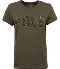 military green cotton t-shirt