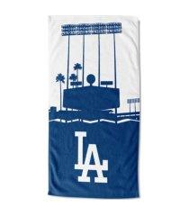 "northwest company los angeles dodgers 30x60 ""blue light"" beach towel"