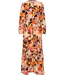 dhparis flower print maxi dress maxiklänning festklänning orange denim hunter