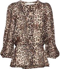 florizzaiw blouse blouse lange mouwen bruin inwear