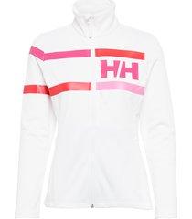 w graphic fleece jacket sweat-shirt tröja vit helly hansen