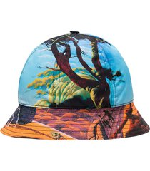 landscape print bucket hat