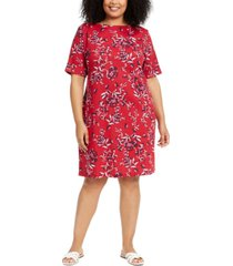 karen scott plus size floral-print dress, created for macy's