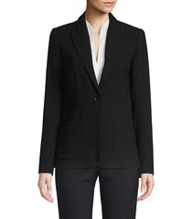 elie tahari women's wendy fluid crepe jacket - black - size 0