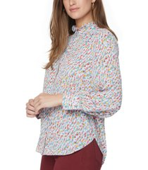 nydj ruffle-neck blouse