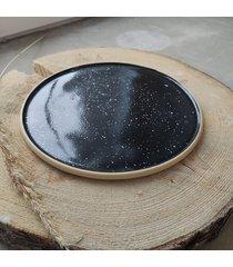 ceramiczny talerz śniadaniowy galaxy