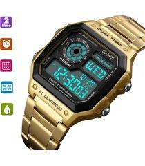 digital reloj rectangular hombre skmei deportivo nadar