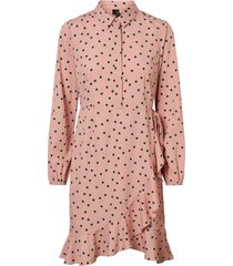 klänning vmwindy henna l/s shirt dress