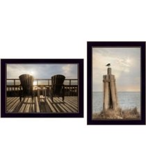"""trendy decor 4u by the sea collection by lori deiter, printed wall art, ready to hang, black frame, 20"""" x 14"""""""