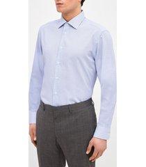 camisa formal jacquard celeste trial