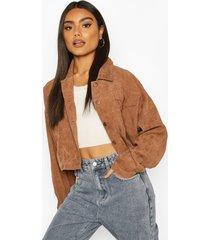 light weight cord boxy jacket, tan