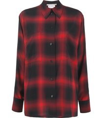 stella mccartney hattie check-print shirt - black