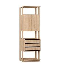 estante armário/gaveteiro carvalho mel be mobiliário bege
