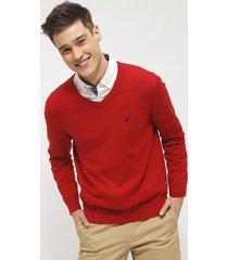 sweater nautica rojo - calce regular