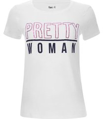 camiseta pretty woman color blanco, talla l