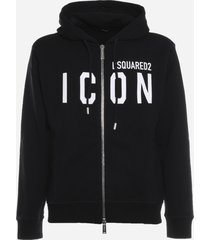 dsquared2 cotton sweatshirt with icon print