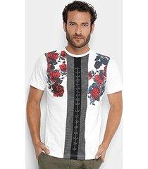 camiseta overcore roses tela masculina