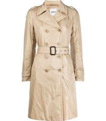 aspesi padded trench coat - neutrals