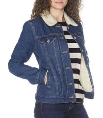 levi's women's sherpa trucker jacket all sizes color dark blue new