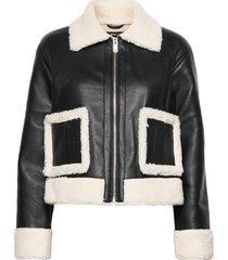amanda trucker jacket läderjacka skinnjacka svart gina tricot
